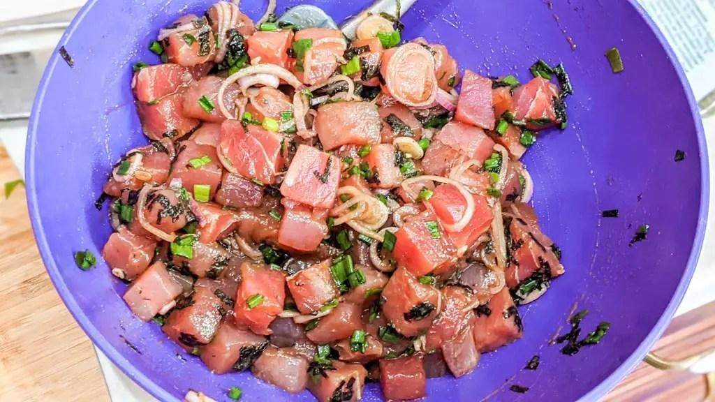 Authentic Hawaiian Poke in a bowl