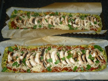Diet Pizza Strip Zucchini Crust 3