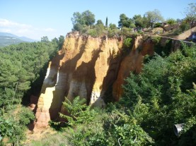 Ocre mine of Roussillon France 1