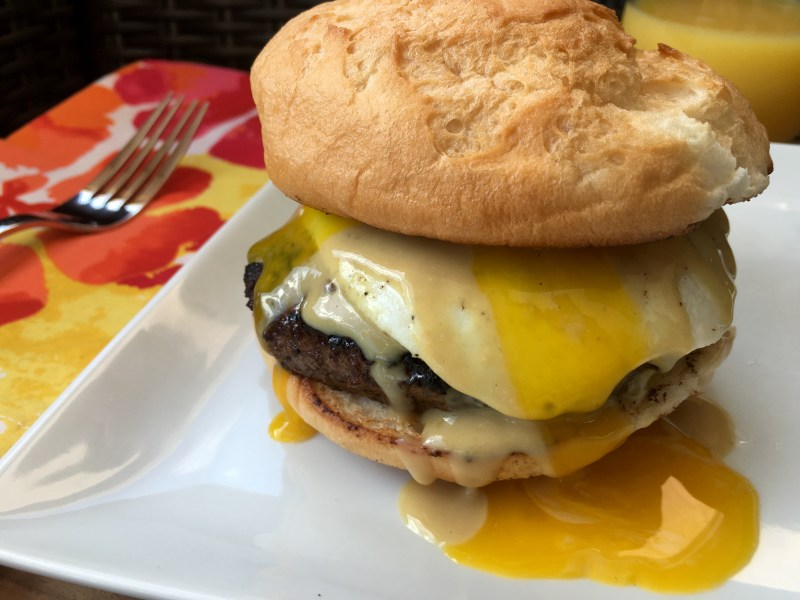 Maple Dijon Breakfast Burger - Cooking Up Happiness