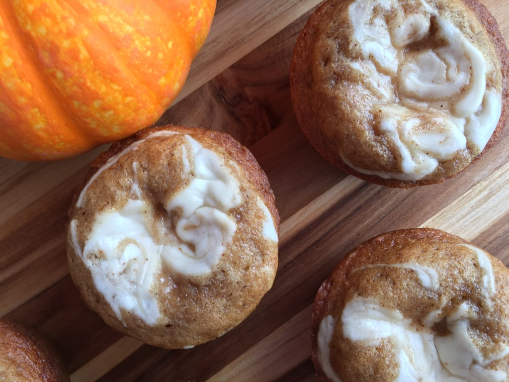 Brown Sugar and Spice Muffins with Maple Cream Cheese Swirl