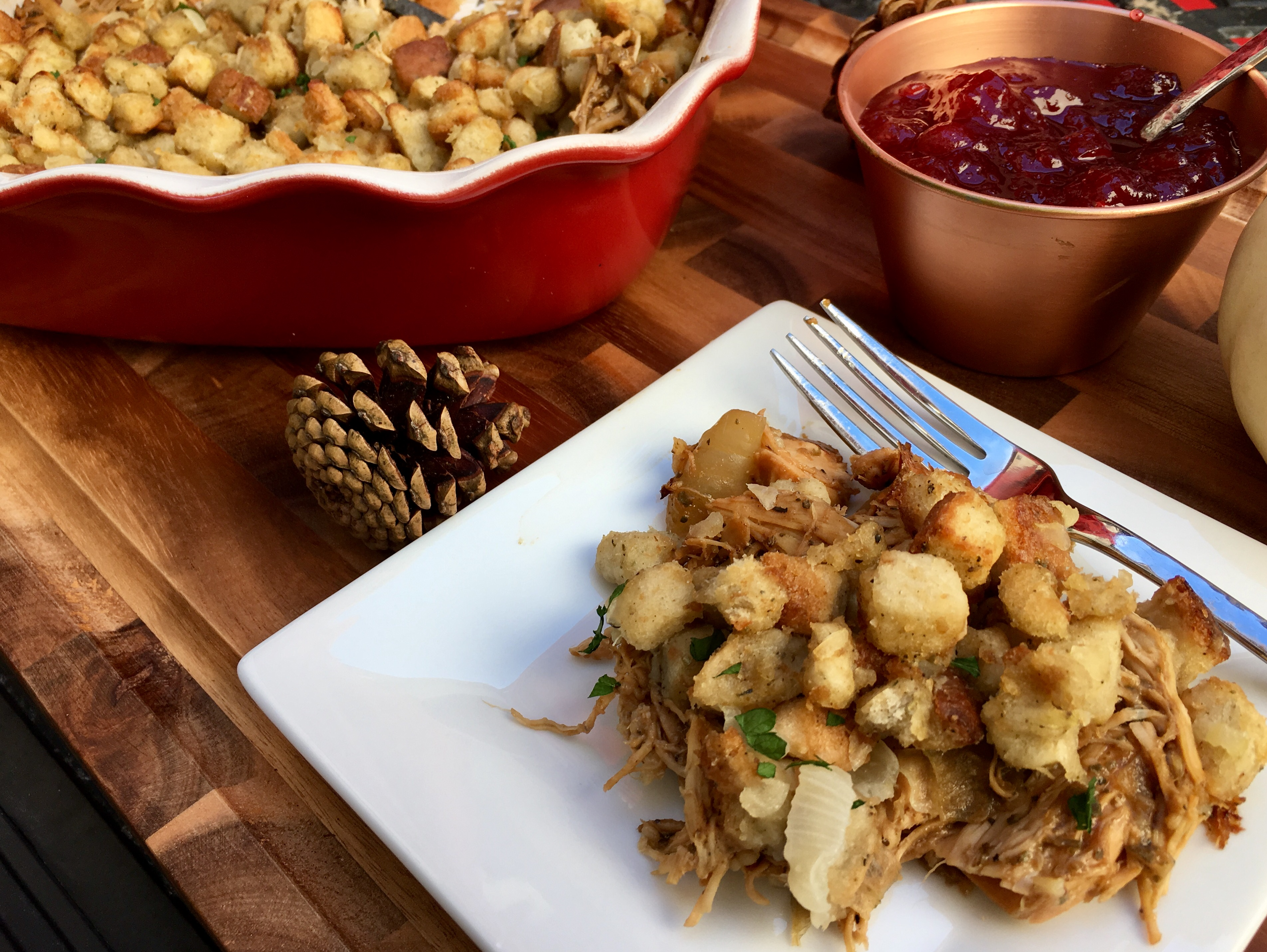 Thanksgiving Dinner Casserole - Cooking Up Happiness