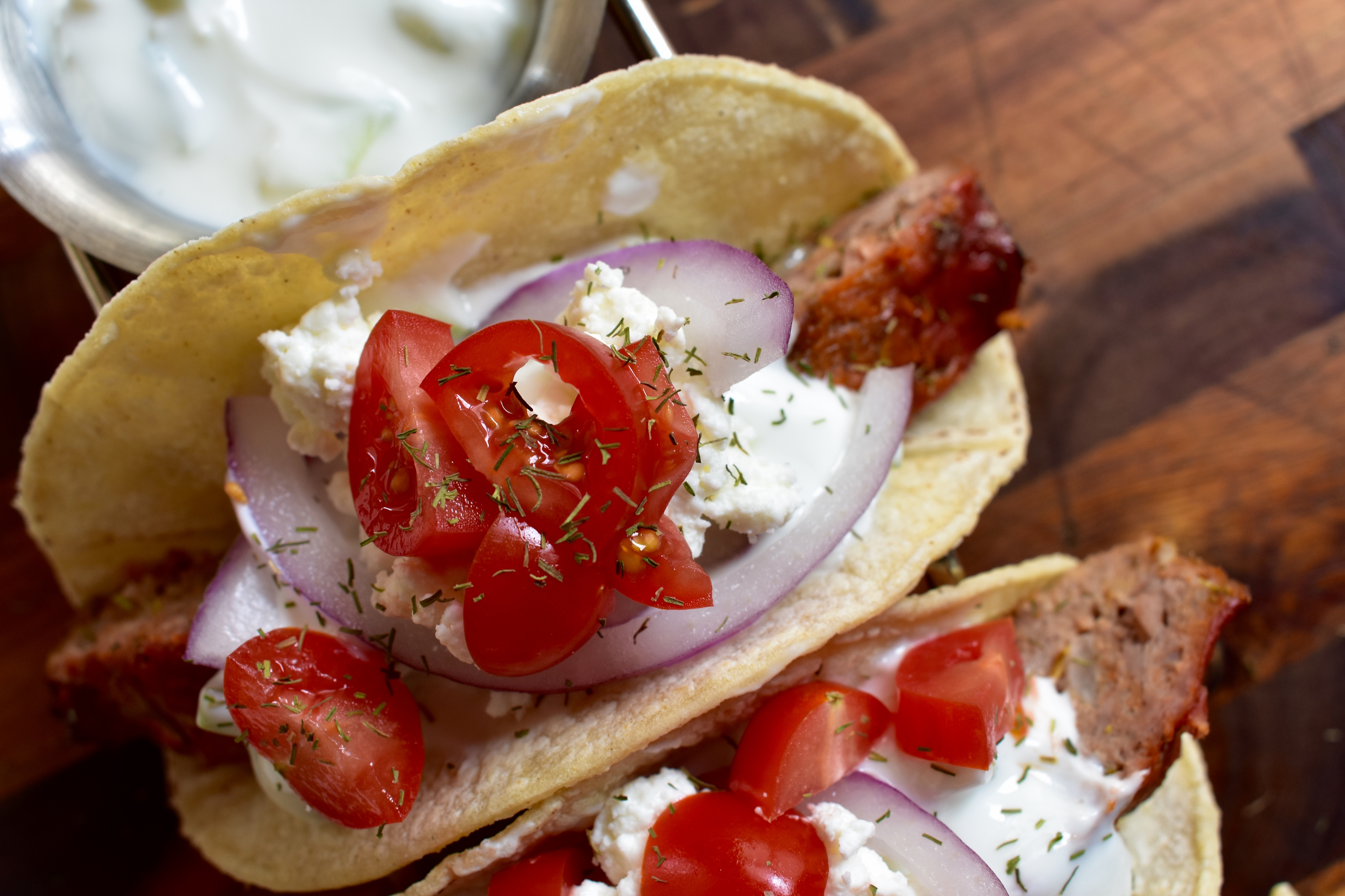 Gyro Tacos with Tzatziki Sauce - Cooking Up Happiness