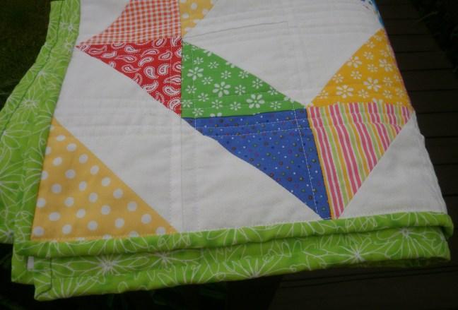Binding in same fabric as backing