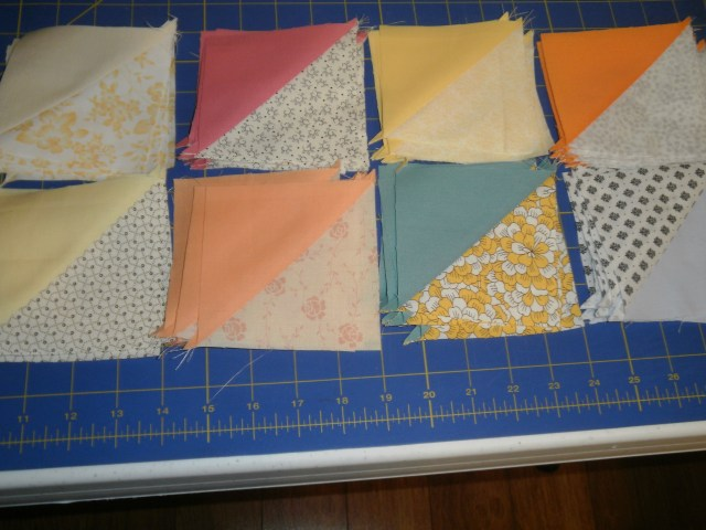 Half Square Triangles - Ready to be squared!