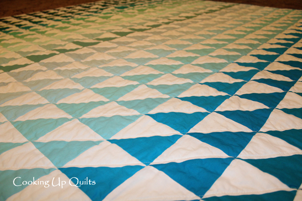 Close Up of Quilt Lines