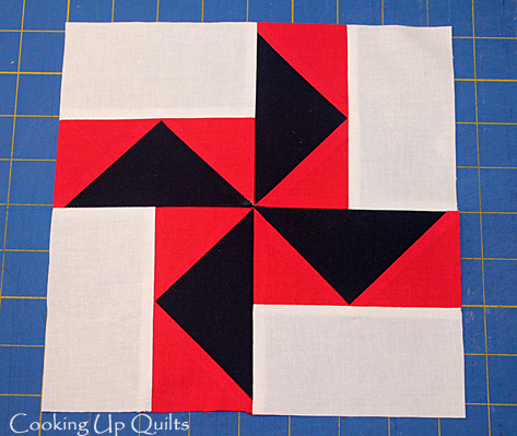 Pinwheel Block with Flying Geese