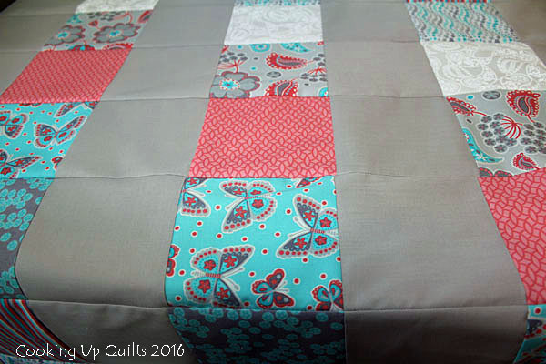 Baby quilt from Charm squares