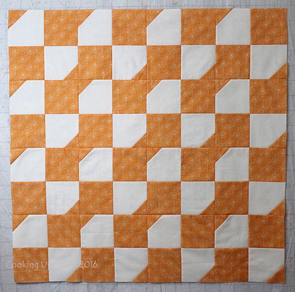 Scrap Orange Baby Quilt