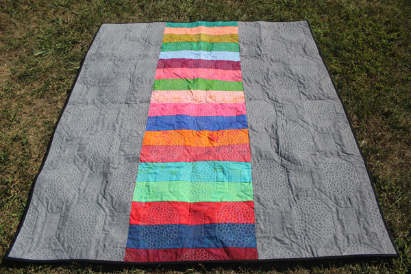 Quilting texture on backing