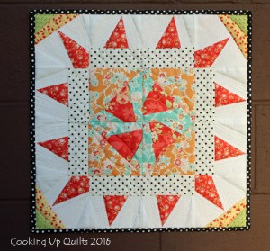 Twirling Star Paper Pieced Chestnut Street Fig Tree Fabrics