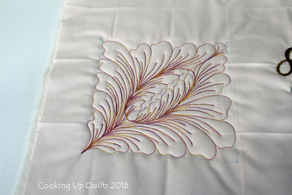 Stitched Flower on Handi Quilter SS