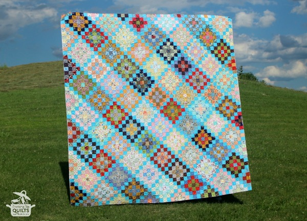 Blue Scrappy Quilt