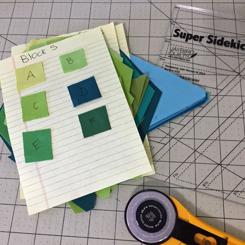 Precutting Gravity Quilt Blocks