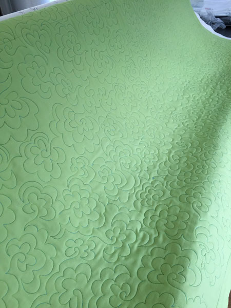 Variegated green thread