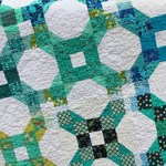 Chainlink quilt by Beth Sellers of Cooking Up Quilts