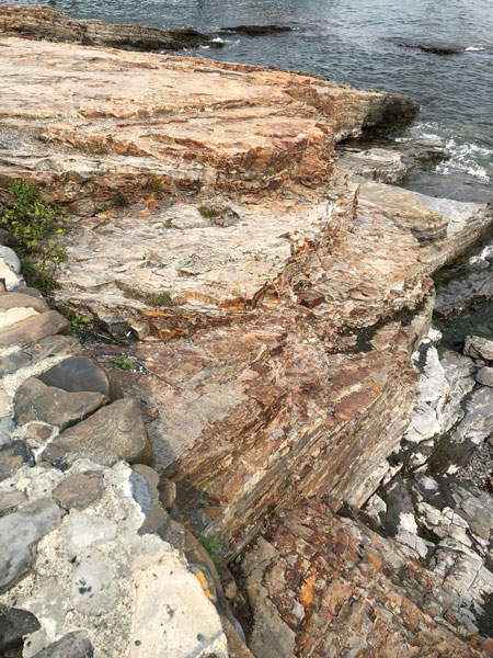 The rocks of Acadia National Park