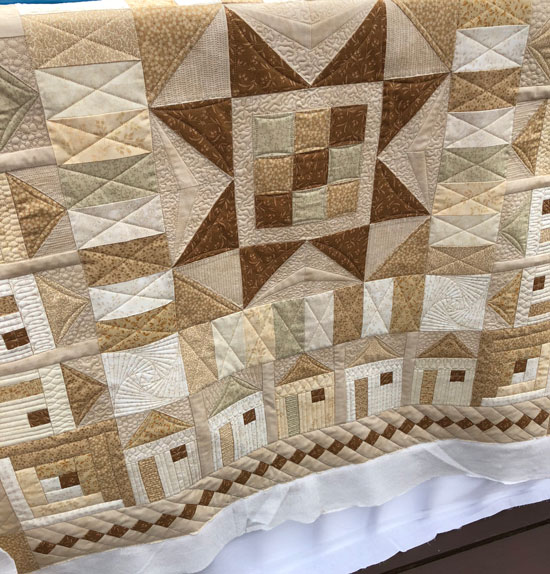 Star Bright quilt with custom quilting