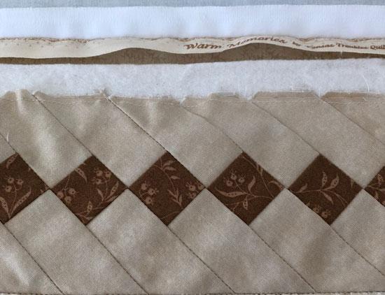 Seminole border before stitch in the ditch