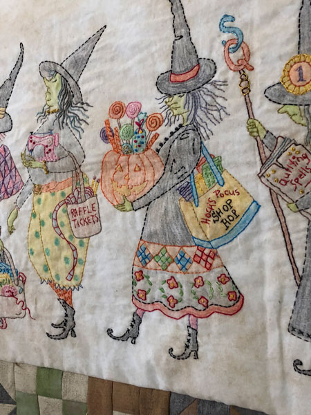 Embroidered witches