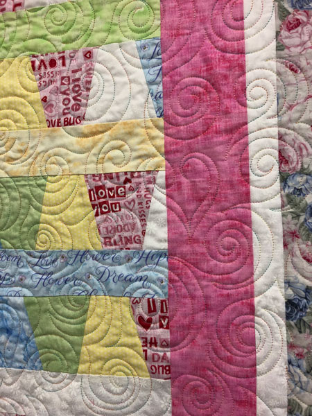 Hearts & Swirls quilting design
