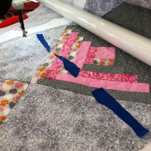 FMQ Using Painters Tape as a Visual Aid