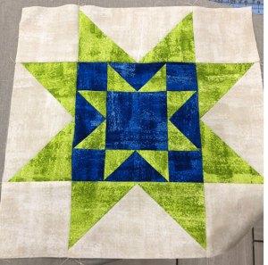 Painted Stars block - alternate layout