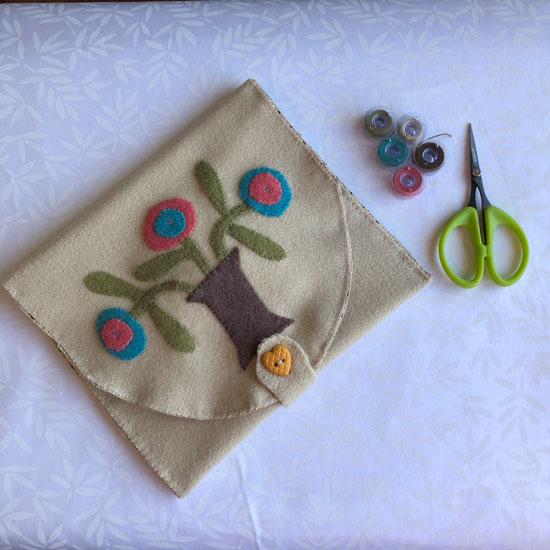 Wool Applique bag