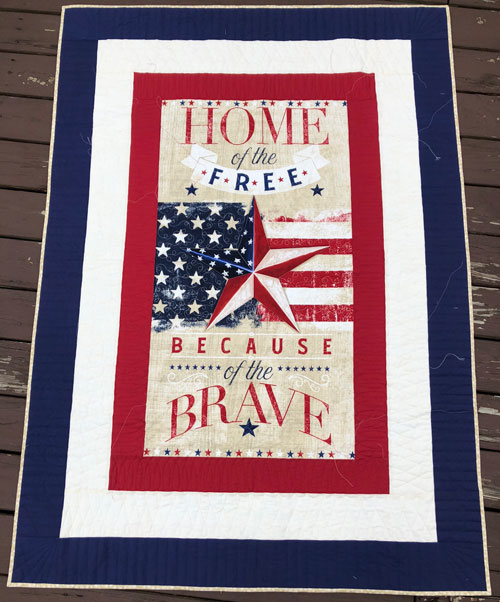 Quilt of valor for veterans