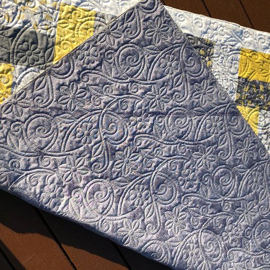 Rail Fence quilt quilted by Beth Sellers of Cooking Up Quilts