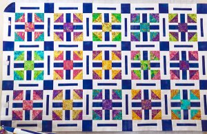 Scrappy Razzleberry blocks by Beth Sellers of Cooking Up Quilts