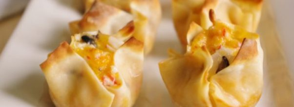 Crab and Cheddar Won Ton Bites - Easy Party Appetizer Recipe