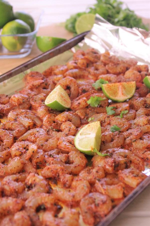 Raw Sheet Pan Cajun Lime Shrimp Baked 15 Minute Dinner Recipe