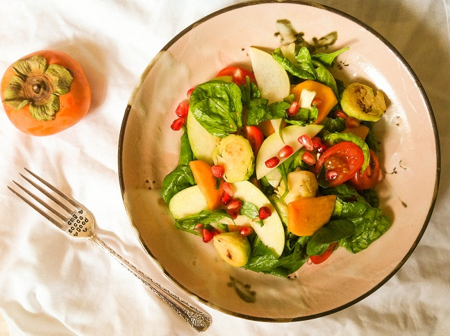Warm Autumn Brussels Sprouts Salad