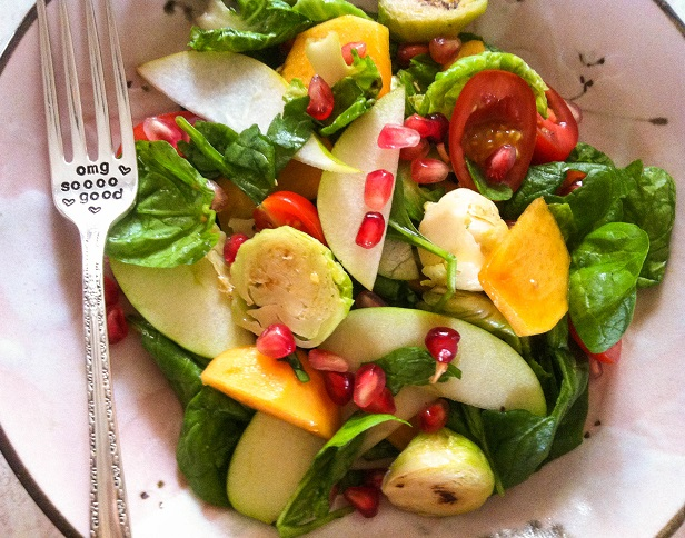 Warm Autumn Brussels Sprouts Salad   Cooking with a Wallflower