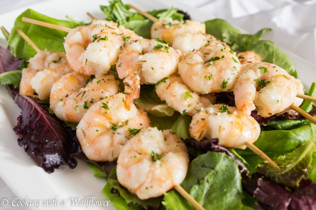 Parmesan Ranch Shrimp Kebabs | Cooking with a Wallflower