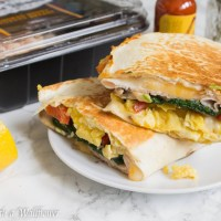 Scrambled Eggs Turkey Breakfast Quesadillas