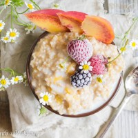 Peaches and Cream Steel Cut Oatmeal