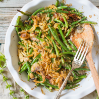 Creamy Green Bean Casserole with Bacon and Mushrooms