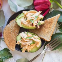 Spicy Chicken Salad in Avocado