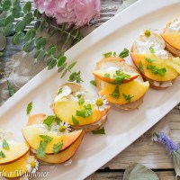 Peach Burrata Toast