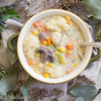 Creamy Vegetable and Dumpling Soup