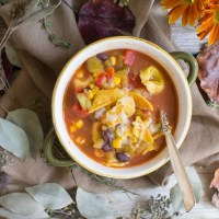 Chicken Tortellini Tortilla Soup