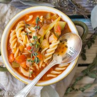 Hearty Vegetable Rotini Tomato Soup