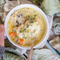 Creamy Chicken Dumpling Soup