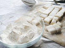 Homemade Marshmallows Getting A Powdered Sugar Coating | Cooking With Bells On