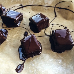Marshmallows Coated in Dark Chocolate | Cooking With Bells On