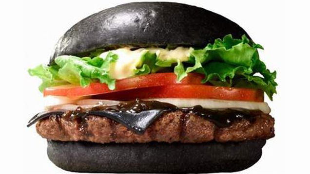11.) Squid-Ink Burger King Black Burger.