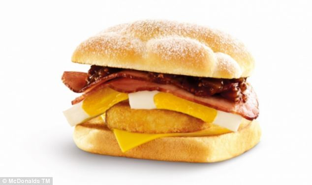 22. Australians can start the day off with this deluxe breakfast roll featuring egg, hash brown, bacon and spicy tomato.