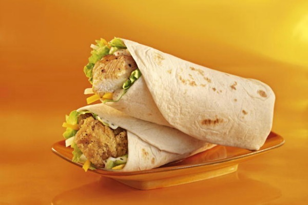 McDonald's Grilled Snack Wrap with Honey Mustard - 260 Calories, 8g of Fat, 18g of Protein.